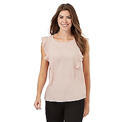 The Collection - Pink sleeveless ruffle top