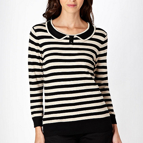 The Collection - Beige striped collar jumper - size 18