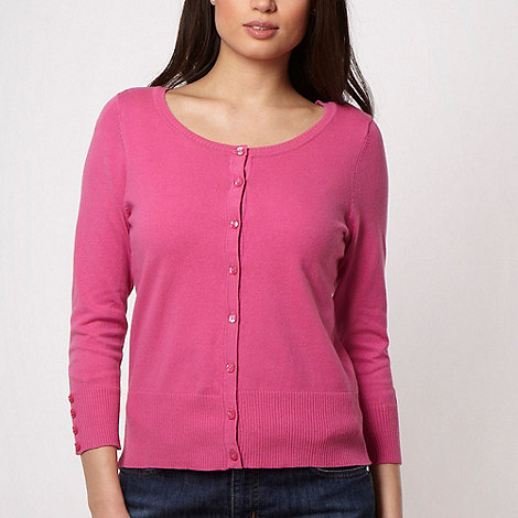 The Collection - Pink stretch three quarter sleeved cardigan