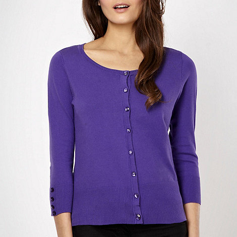 The Collection - Purple soft stretch cardigan