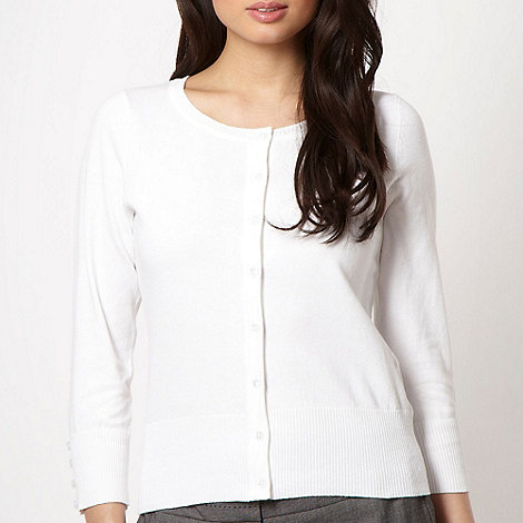 The Collection - White plain stretch cardigan