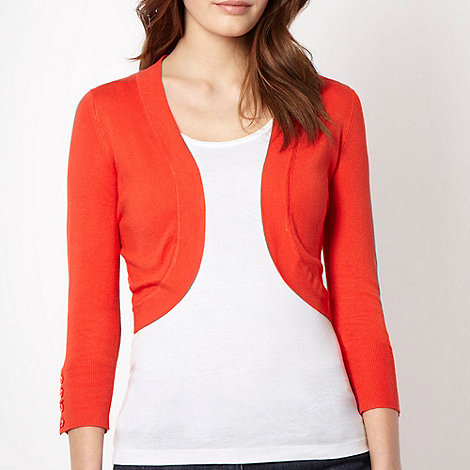 The Collection - Orange knit shrug