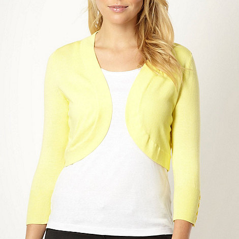 The Collection - Yellow three quarter sleeve shrug
