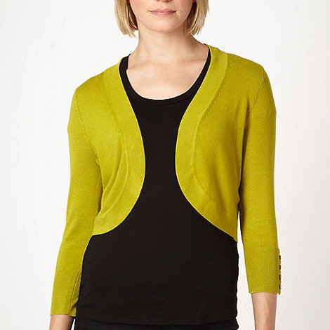 The Collection - Lime knitted shrug