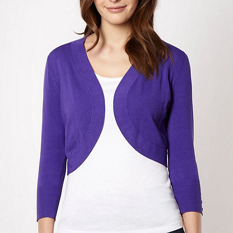 The Collection - Purple knitted shrug