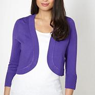 Purple plain shrug