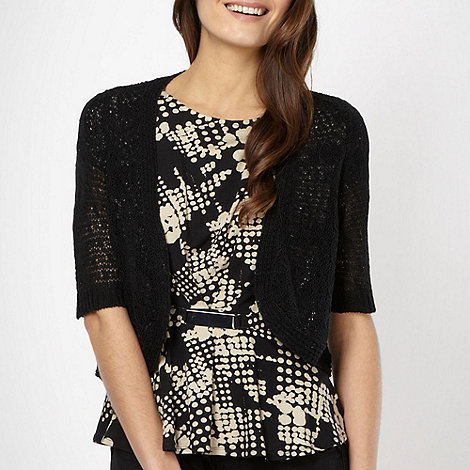The Collection - Black cord knitted shrug