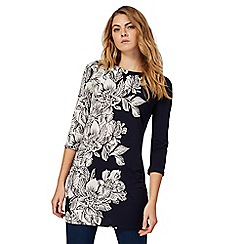 The Collection - Navy floral print tunic dress