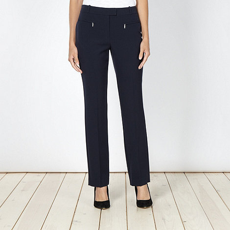 The Collection Petite - Petite navy slim fit work trousers
