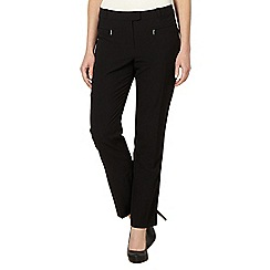 The Collection - Black slim leg work trousers