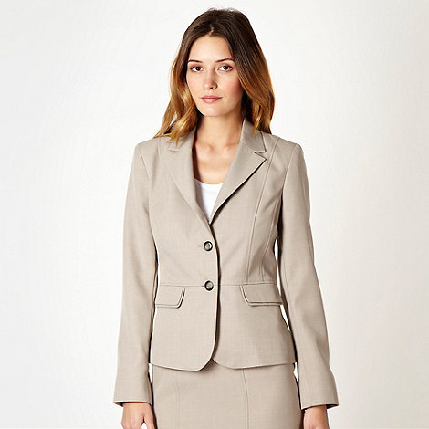The Collection - Taupe crosshatch suit jacket