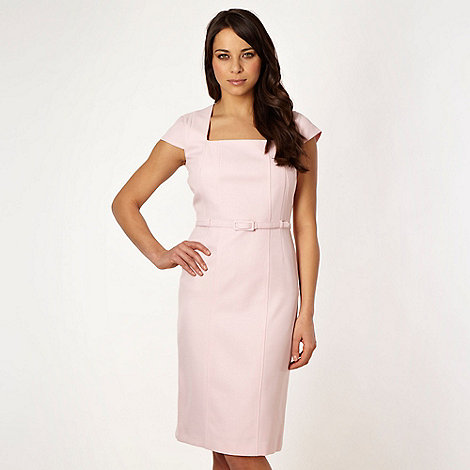 The Collection - Online exclusive - Pale pink belted suit dress