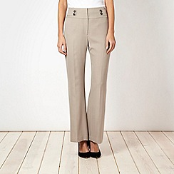 The Collection - Taupe crosshatch suit trousers