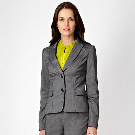 The Collection - Grey fine grid suit jacket