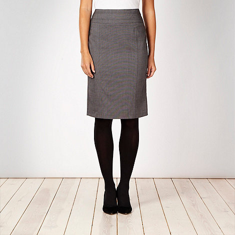 The Collection - Grey checked suit skirt - size 22