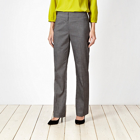 The Collection - Grey fine grid suit trousers