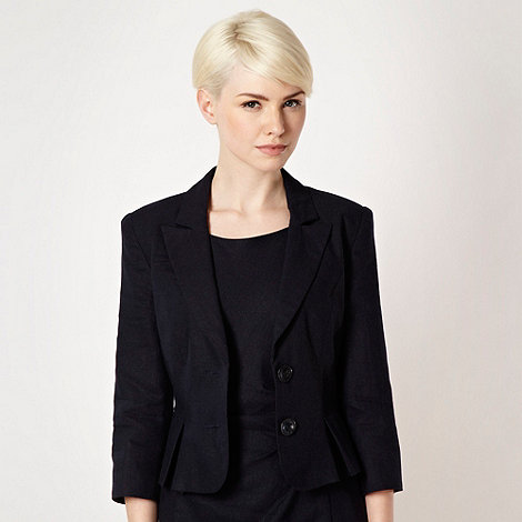 The Collection Petite - Petite navy linen blend suit jacket