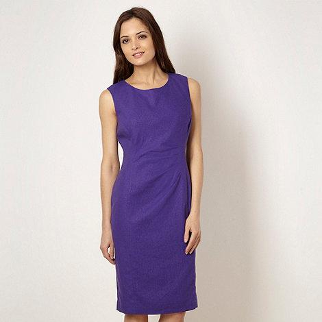 The Collection - Purple linen blend suit dress