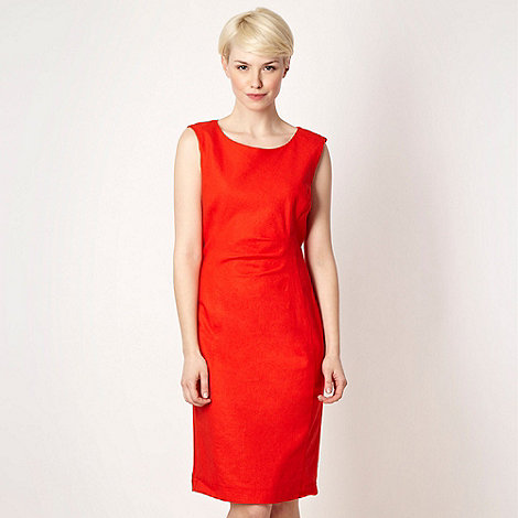 The Collection Petite - Petite orange linen blend work dress