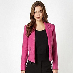 The Collection - Pink textured crop blazer