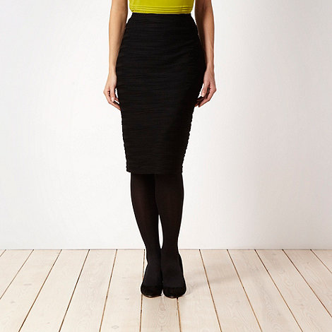 The Collection - Black ripple skirt