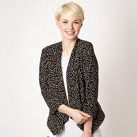 The Collection - Beige spotted waterfall jacket - size 10
