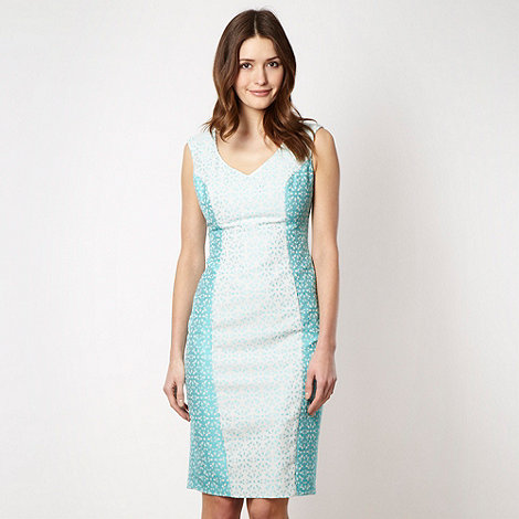 The Collection - Aqua broderie suit dress