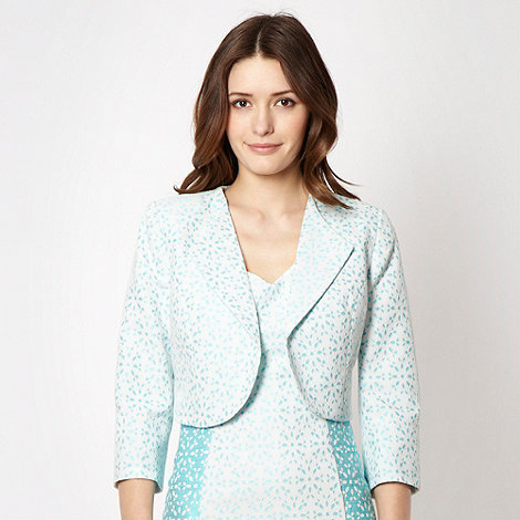 The Collection Petite - Petite aqua broderie suit jacket