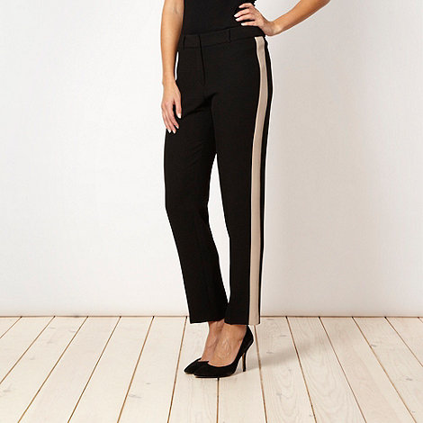 The Collection - Black panel striped trousers
