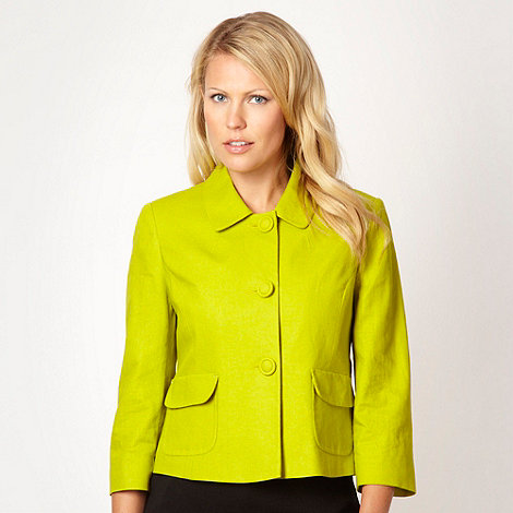 The Collection - Lime linen blend jacket