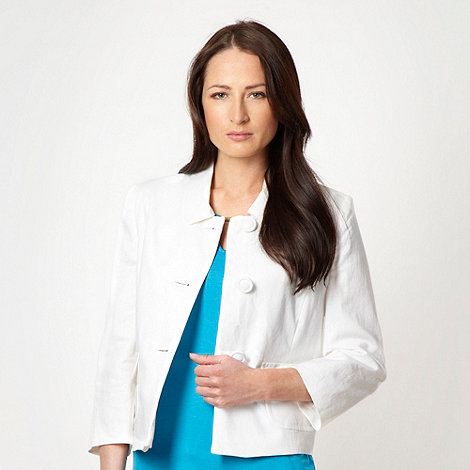 The Collection - White linen blend jacket