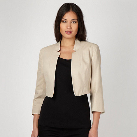 The Collection - Natural linen blend bolero
