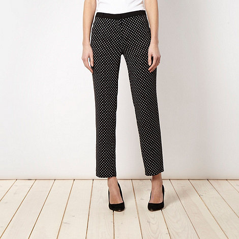 The Collection - Black spotted suit trousers