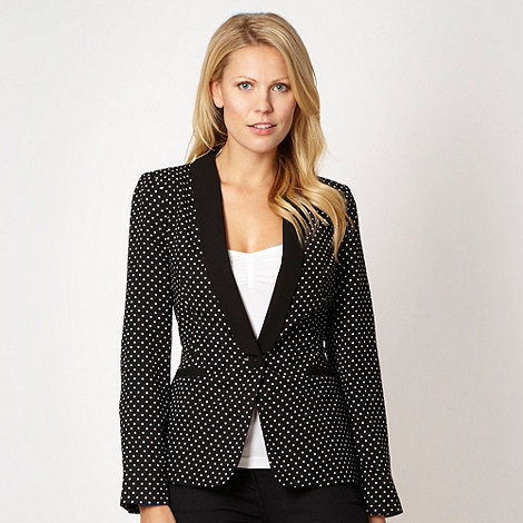 The Collection - Black spotted suit jacket - size 18