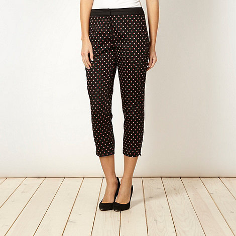 The Collection Petite - Petite orange diamond cropped trousers