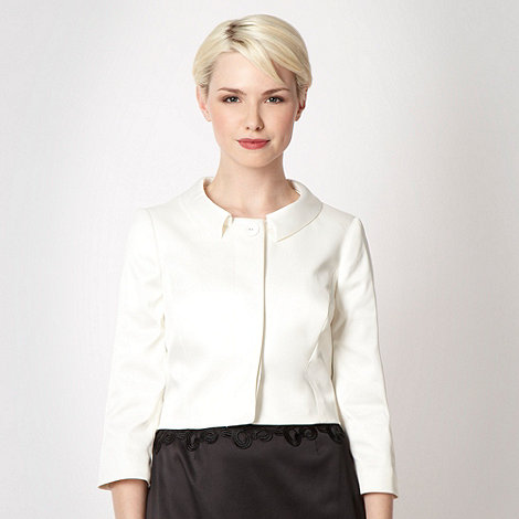 The Collection - Cream satin roll collar jacket