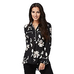The Collection - Black floral print shirt