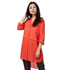 The Collection - Red double layer longline tunic