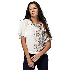 The Collection - Ivory floral print kimono top