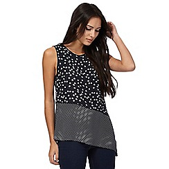 The Collection - Navy spotted asymmetric top