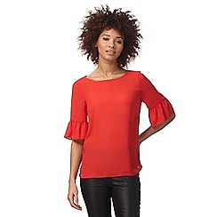 The Collection - Red flute sleeved blouse