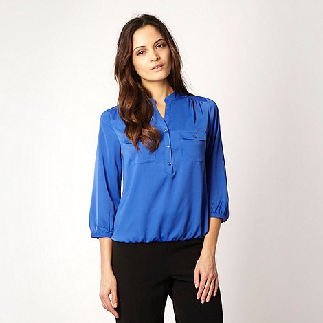 The Collection - Royal blue round necked shirt