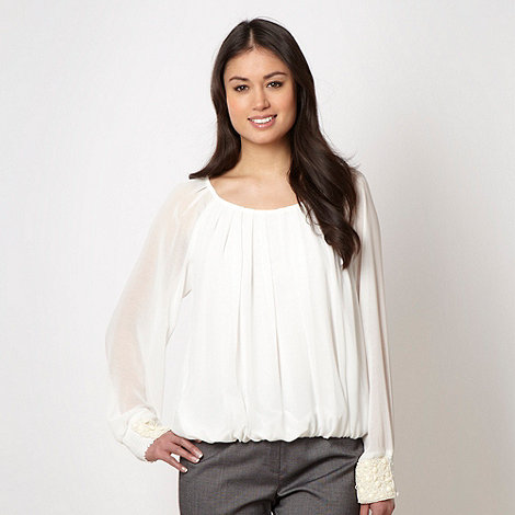 The Collection Petite - Petite ivory embellished cuff top
