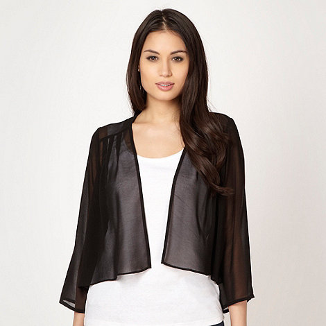 The Collection Petite - Petite black pleated chiffon cover up