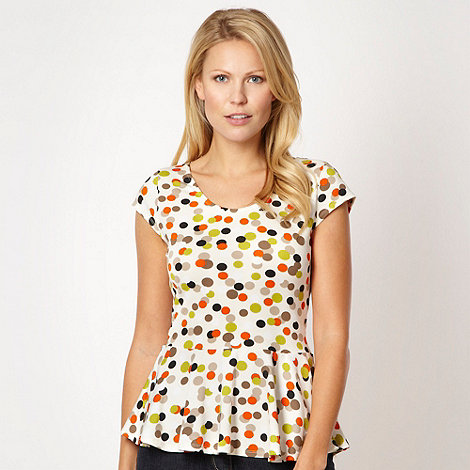 The Collection Petite - Petite cream candy spot top