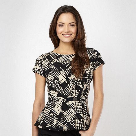 The Collection - Black spotted bar trimmed top