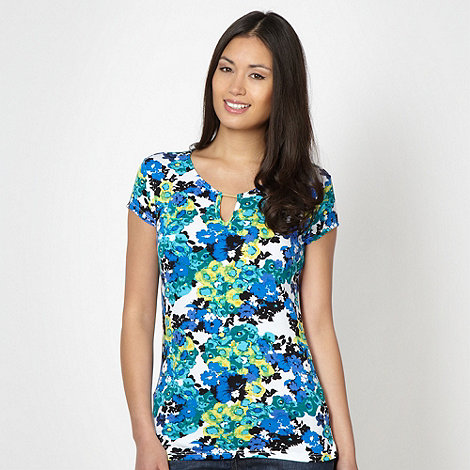 The Collection - Bright blue floral jersey t-shirt