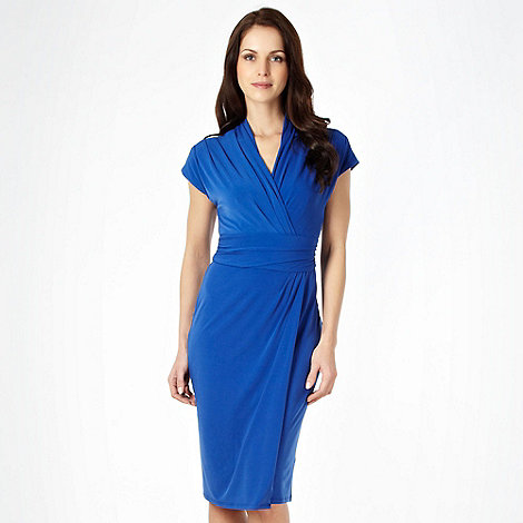 The Collection - Royal blue jersey wrap dress