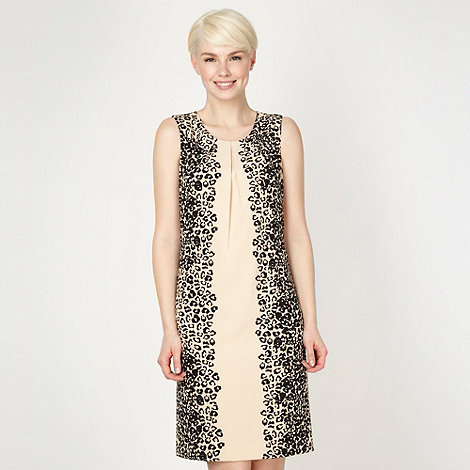 The Collection - Natural animal printed side day dress