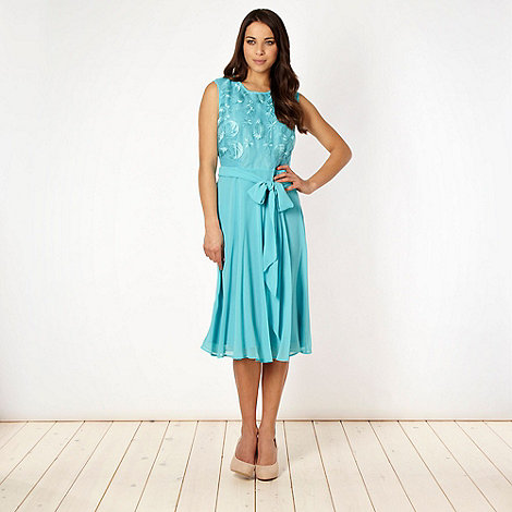 The Collection - Aqua organza front dress